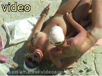 Couple on the beach voyeur2