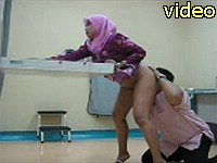 Malaysian wife doggystyle with hubby