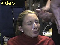 Submissive wife gets big facial cumshot
