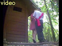 Security camera caught friend of fiance fucking bridesmaid outdoor